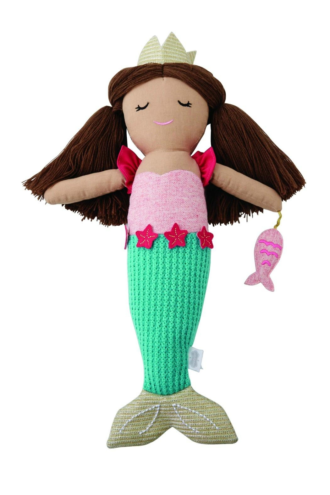 Mud Pie Aqua-Tail Mermaid Doll - Main Image