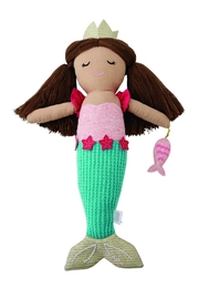 Mud Pie Aqua-Tail Mermaid Doll - Front cropped