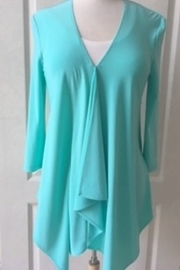 Joseph Ribkoff  Aqua tunic pleated blouse - Product Mini Image