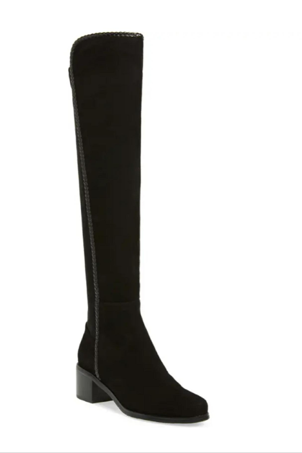 Aqua Diva Black  Waterproof Over The Knee Boots - Side Cropped Image