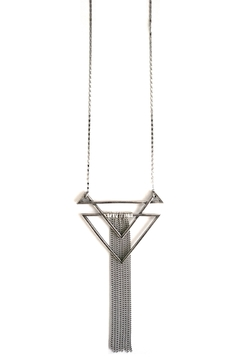 Shoptiques Product: Three Angle Necklace-Silver