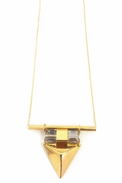 Shoptiques Product: Vina Necklace- Gold&Crystal