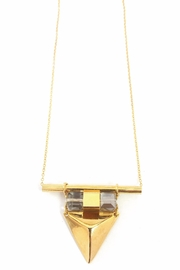 AR-by roni albert Vina Necklace- Gold&Crystal - Front cropped