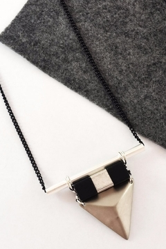 Shoptiques Product: Vina Necklace-Silver & Black