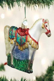Old World Christmas Arabian Horse Ornament - Front cropped