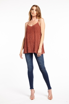 Aratta Anita Hand Beaded Cami - Product List Image