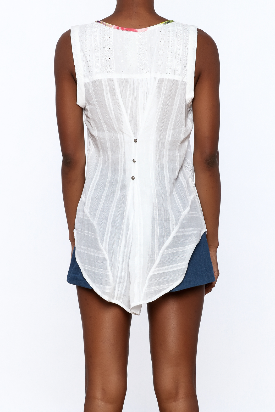 Aratta Button Down Blouse - Back Cropped Image