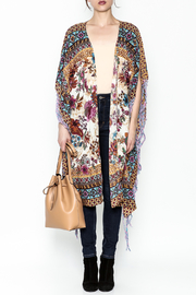Aratta Bohemian Fringed Wrap - Front full body