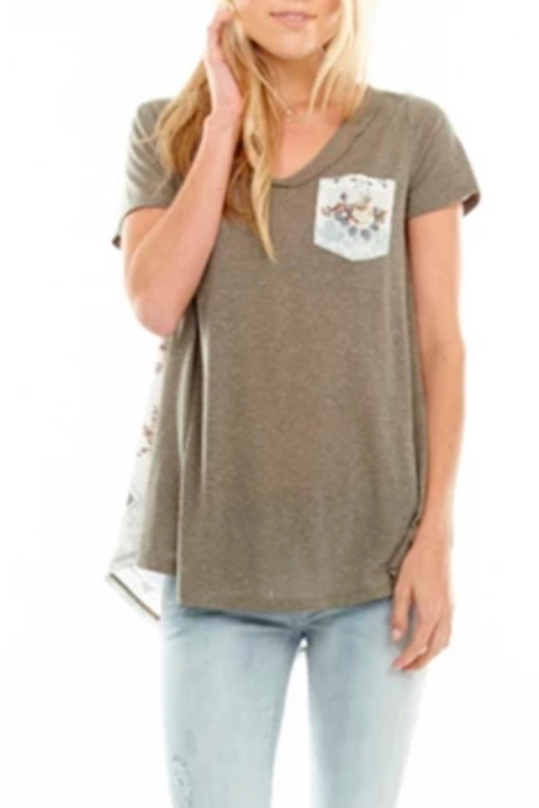 Aratta Carrie Olive T-Shirt - Main Image