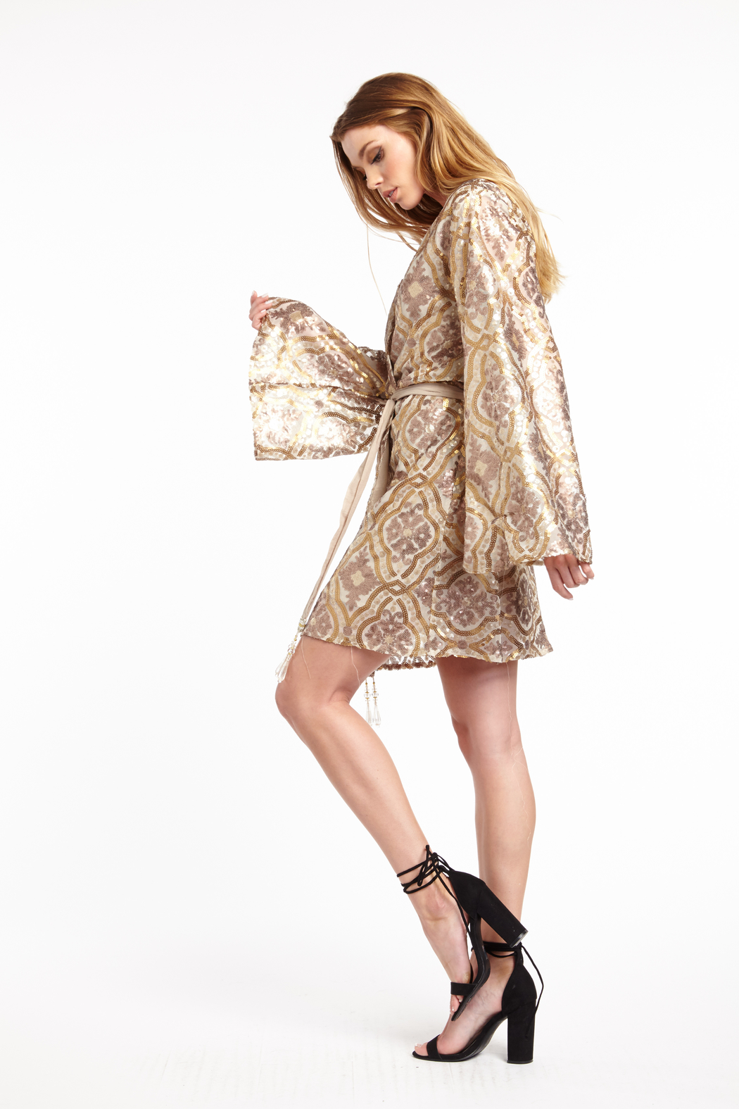 Aratta Cocktail Party Wrap Mini Dress - Side Cropped Image