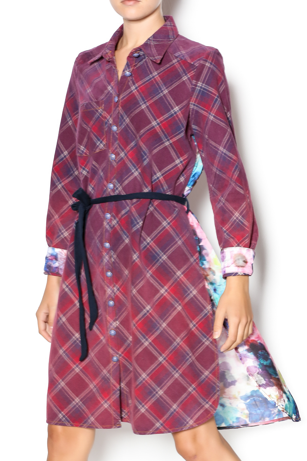 Aratta Corduroy Shirt Dress - Front Cropped Image