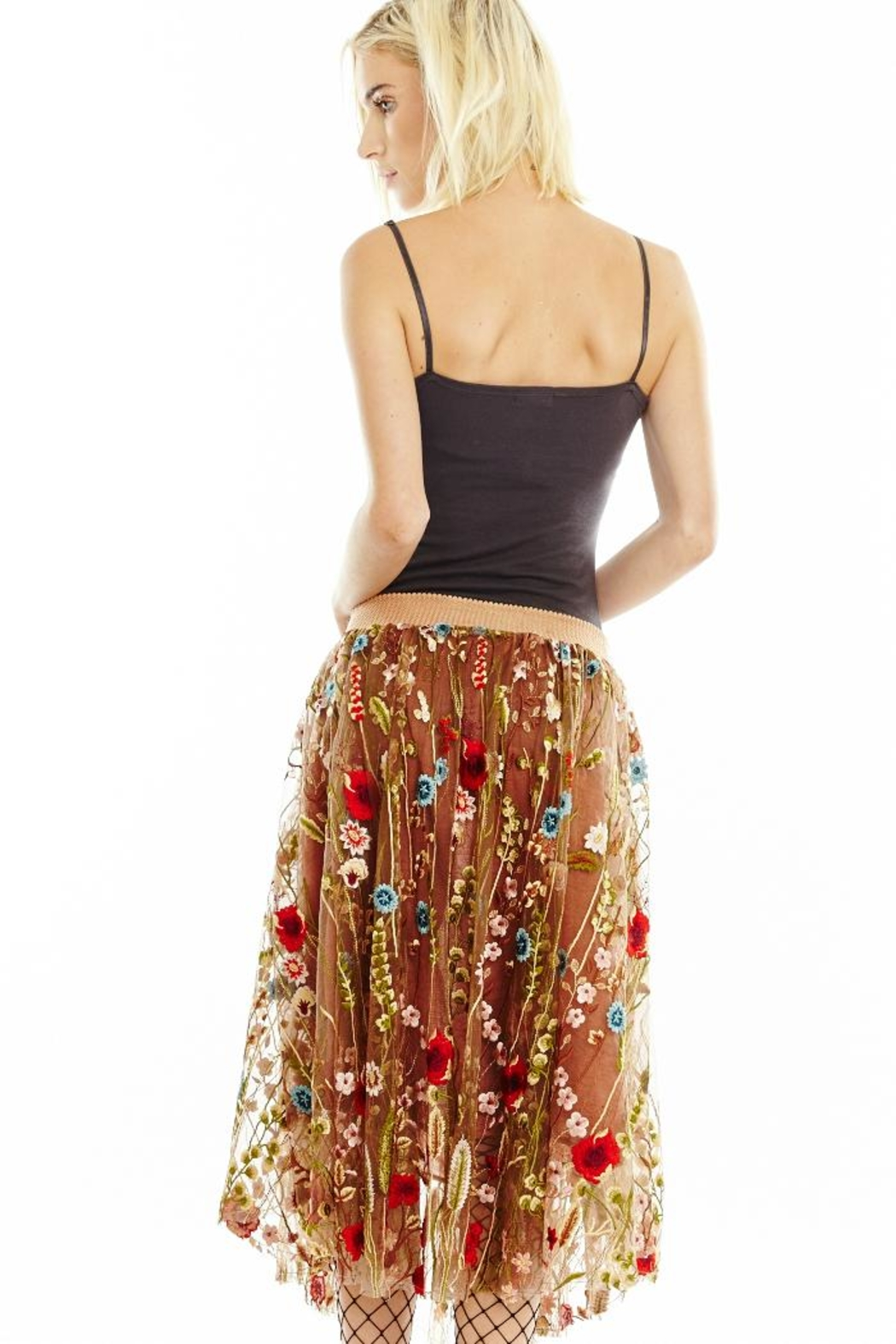 Aratta Embroidered Floral Skirt - Front Full Image