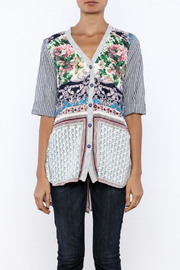 Aratta Floral Stripe Cardigan - Side cropped