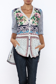 Aratta Floral Stripe Cardigan - Product Mini Image