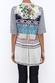 Aratta Floral Stripe Cardigan - Back cropped
