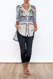 Aratta Floral Stripe Cardigan - Front full body