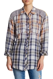 Aratta Hibiscus Plaid Shirt - Product Mini Image