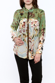 Aratta Floral Button-Down Top - Product Mini Image