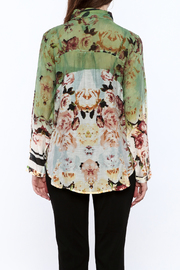 Aratta Floral Button-Down Top - Back cropped