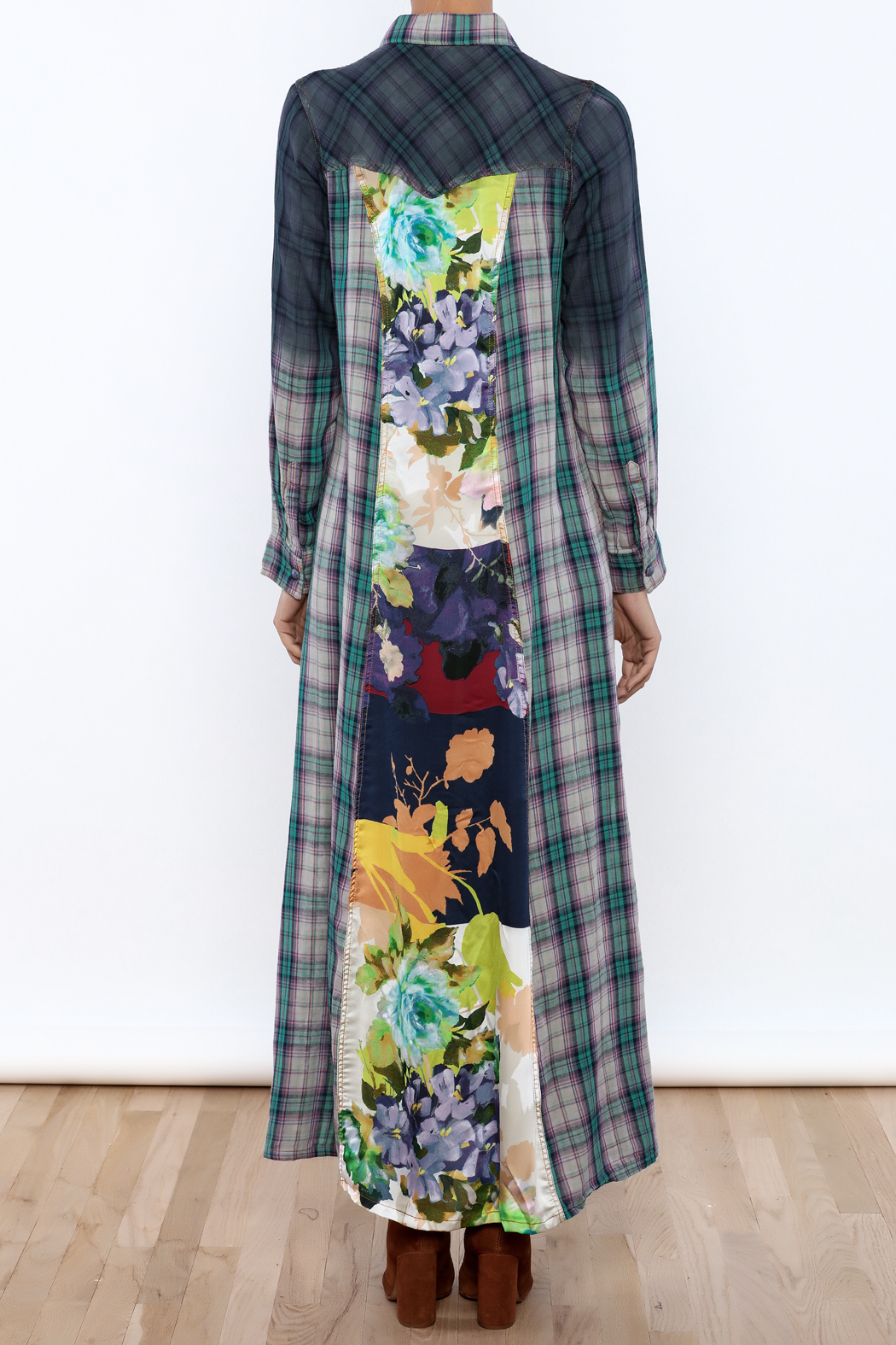 Aratta Mixed Media Maxi Dress - Back Cropped Image