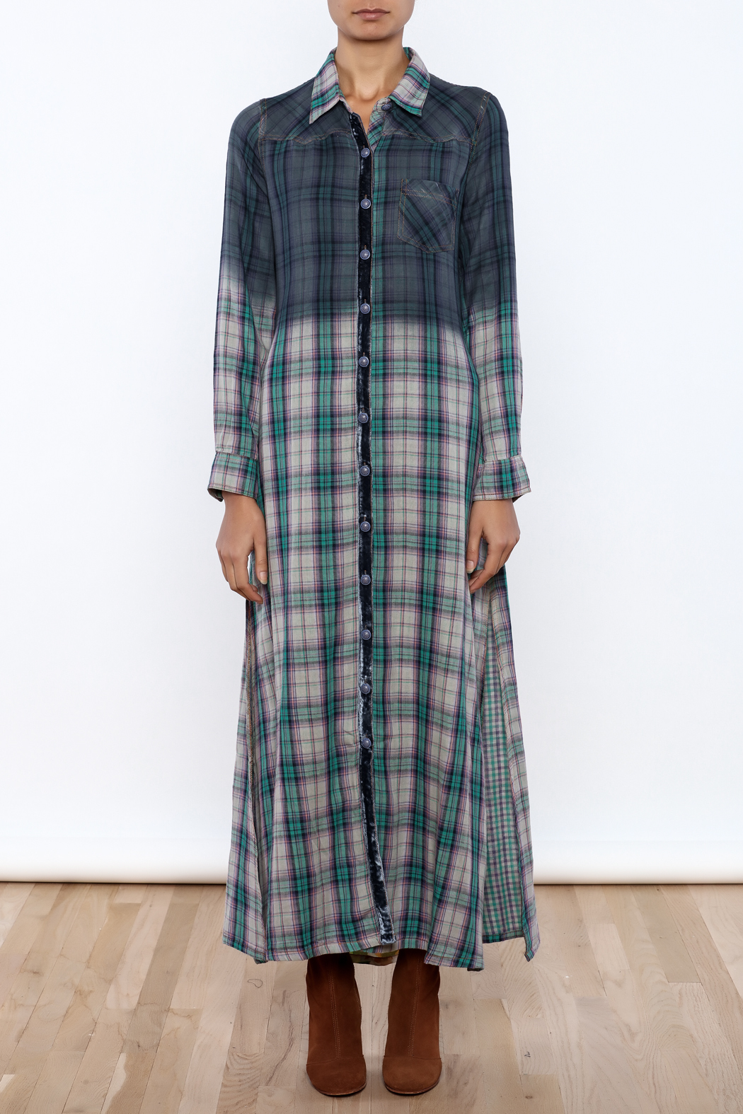 Aratta Mixed Media Maxi Dress - Front Cropped Image