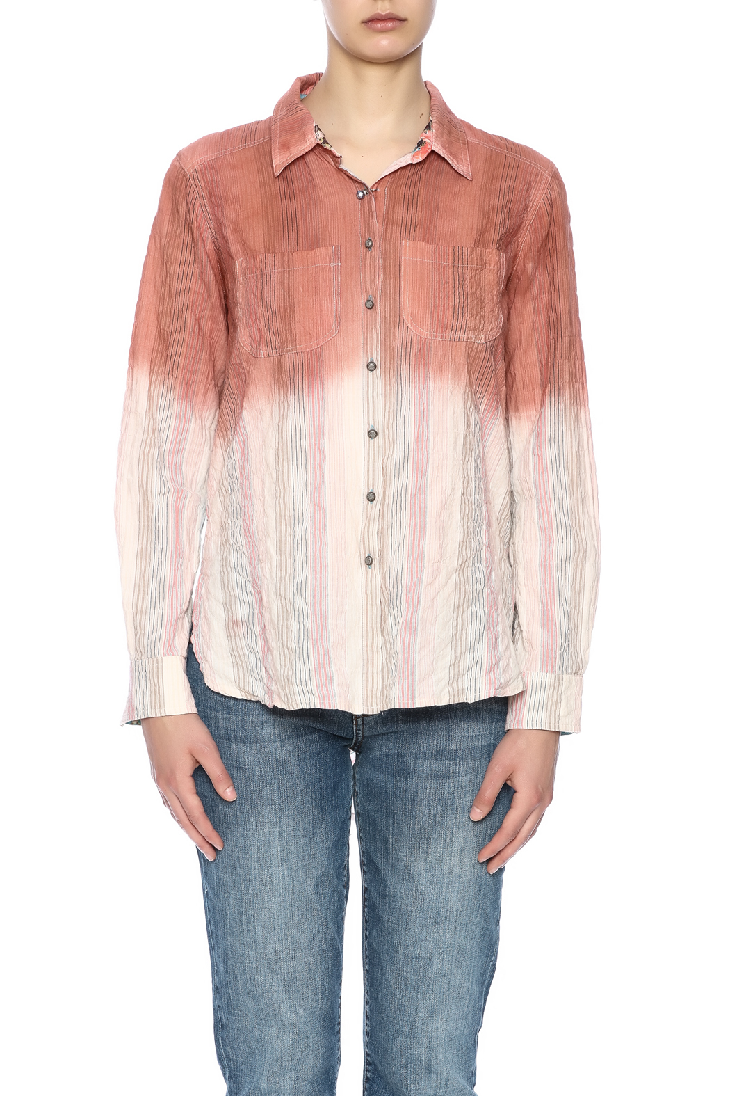 Aratta Ombre Button Shirt - Side Cropped Image