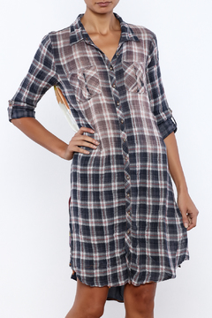 Shoptiques Product: Plaid Floral Shirtdress