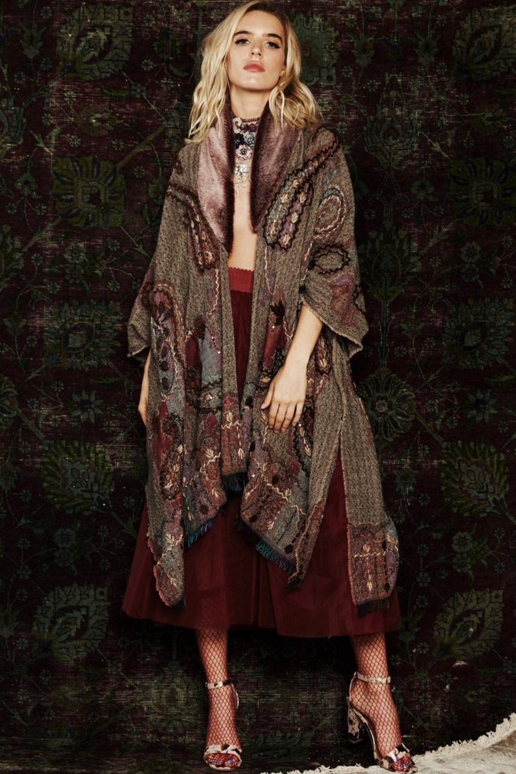 Aratta Royal Highness Kimono - Side Cropped Image
