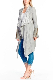 Aratta Shawl Cardigan Heather Gray - Front cropped