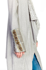 Aratta Shawl Cardigan Heather Gray - Side cropped