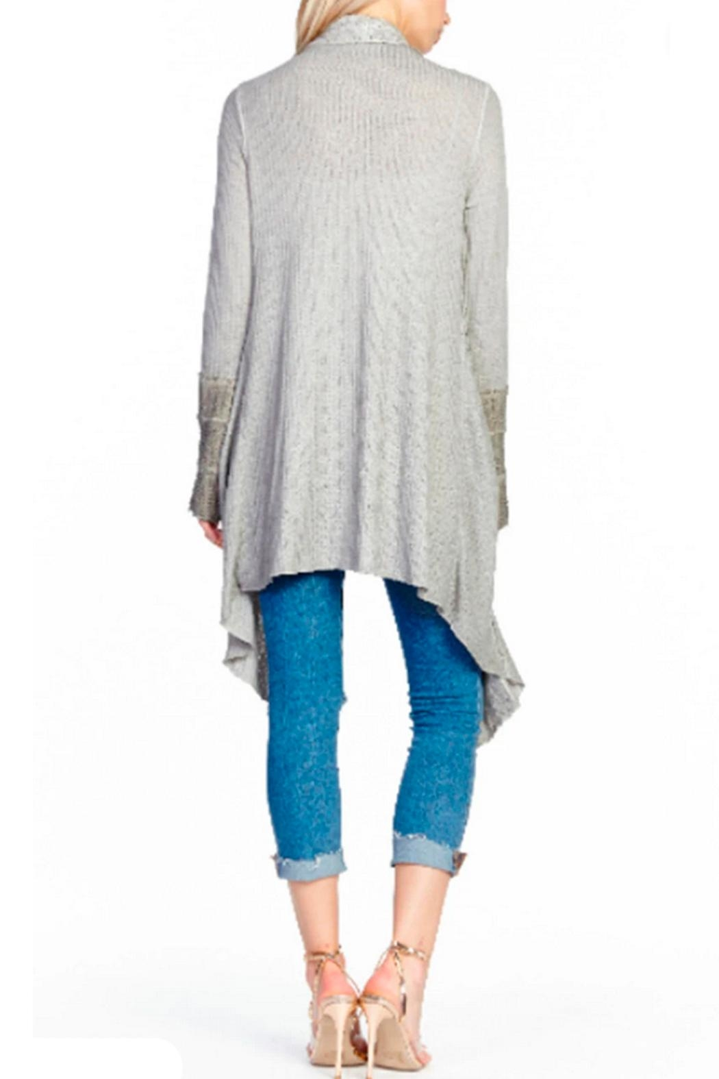 Aratta Shawl Cardigan Heather Gray - Front Full Image