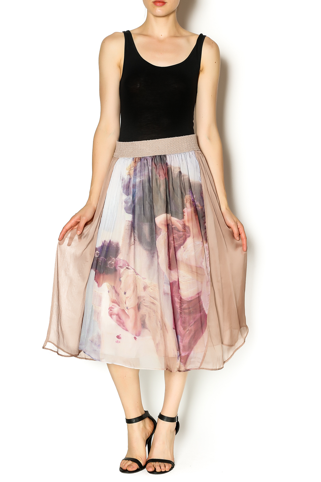 Aratta Silk Midi Skirt from Montana by Olive   Iron — Shoptiques