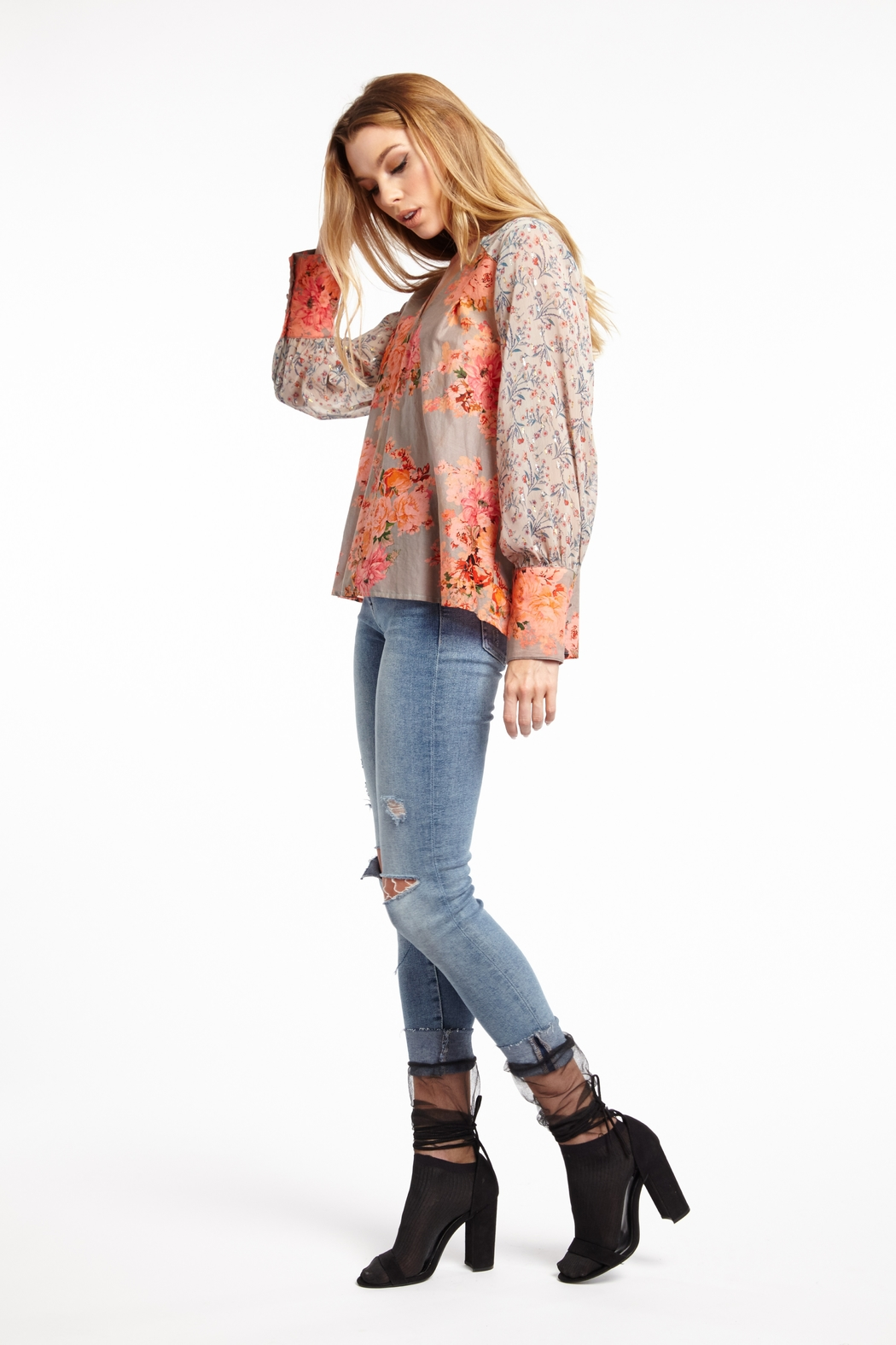 Aratta Strawberry Blonde Blouse - Side Cropped Image
