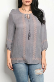 Araza Gray Printed Top - Product Mini Image