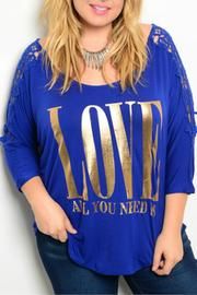 Araza Royal Love Shirt - Front cropped