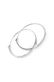 Riah Fashion Arc-Bar-Hinge Hoop Earring - Front full body