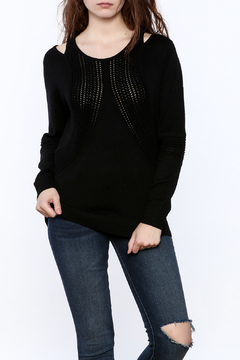 Shoptiques Product: Black Tunic Sweater Top