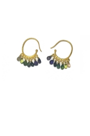 Arcatus Jewelry Sapphire Dangle Earrings - Front cropped