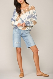 Blank Paige Arced TieDye Top - Back cropped