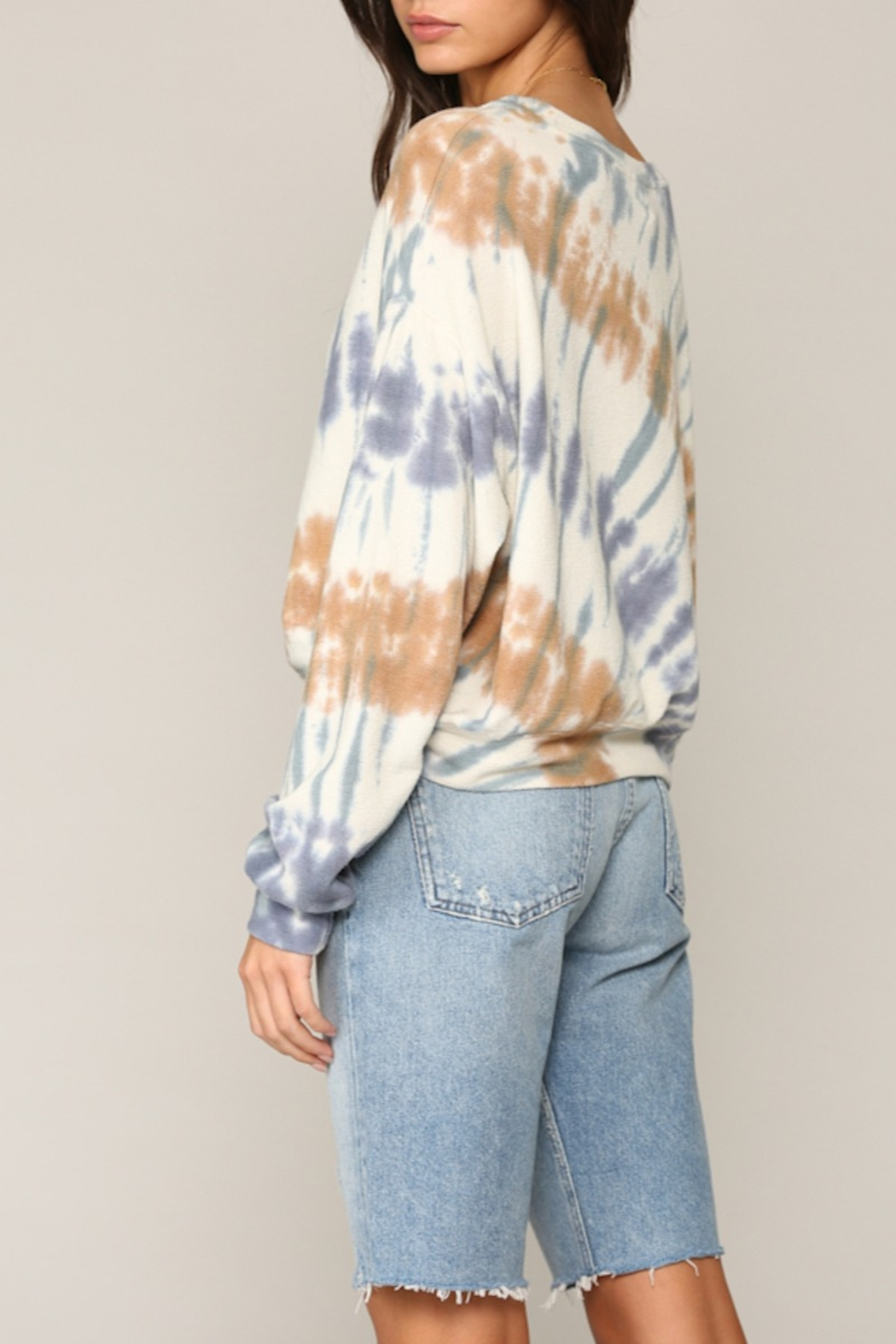 Blank Paige Arced TieDye Top - Side Cropped Image