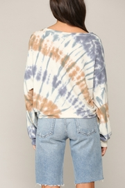 Blank Paige Arced TieDye Top - Front full body