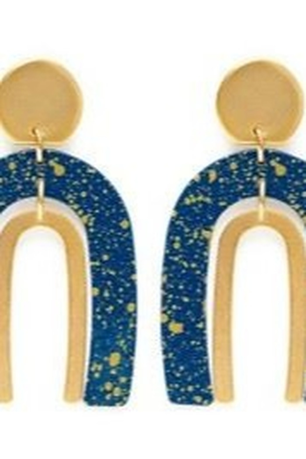 AMANO STUDIO Arched Gold Flecked Earrings - Main Image