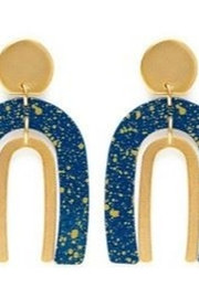 Amano Trading Arched Gold Flecked Earrings - Product Mini Image
