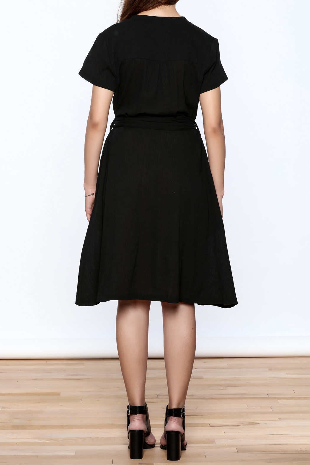 Archerie Joelle Crepe Dress - Back Cropped Image