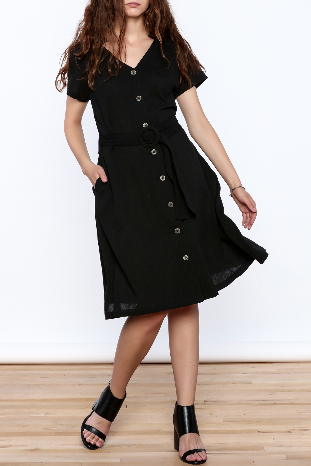 Archerie Joelle Crepe Dress - Front Full Image