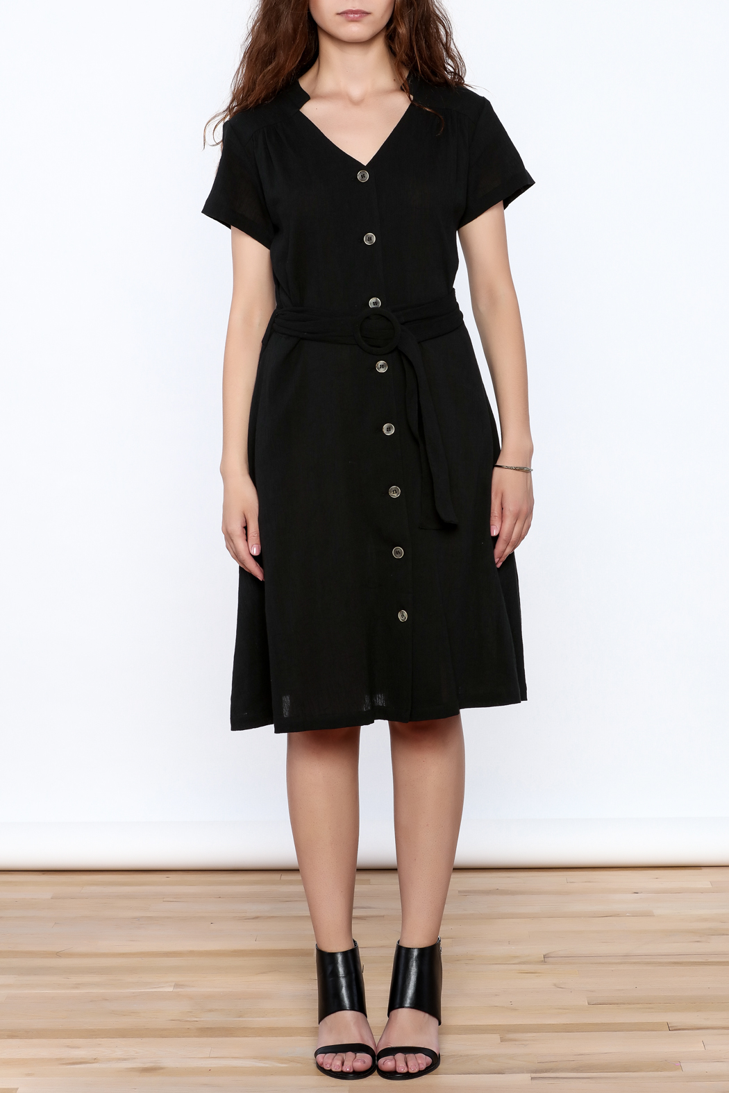 Archerie Joelle Crepe Dress - Front Cropped Image