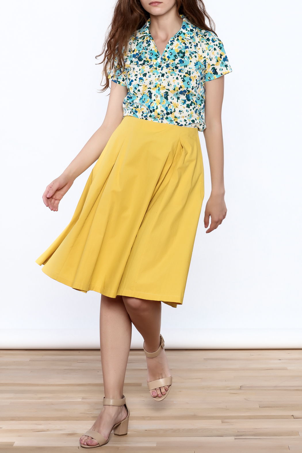 Archerie Valerie Pleated Skirt - Front Full Image