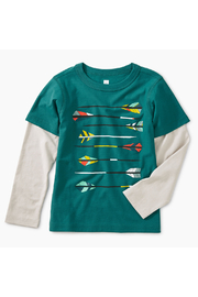 Tea Collection Archery Graphic Layered Tee - Front cropped