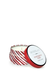 Archipelago Botanicals Peppermintbark Travel Candle - Front cropped