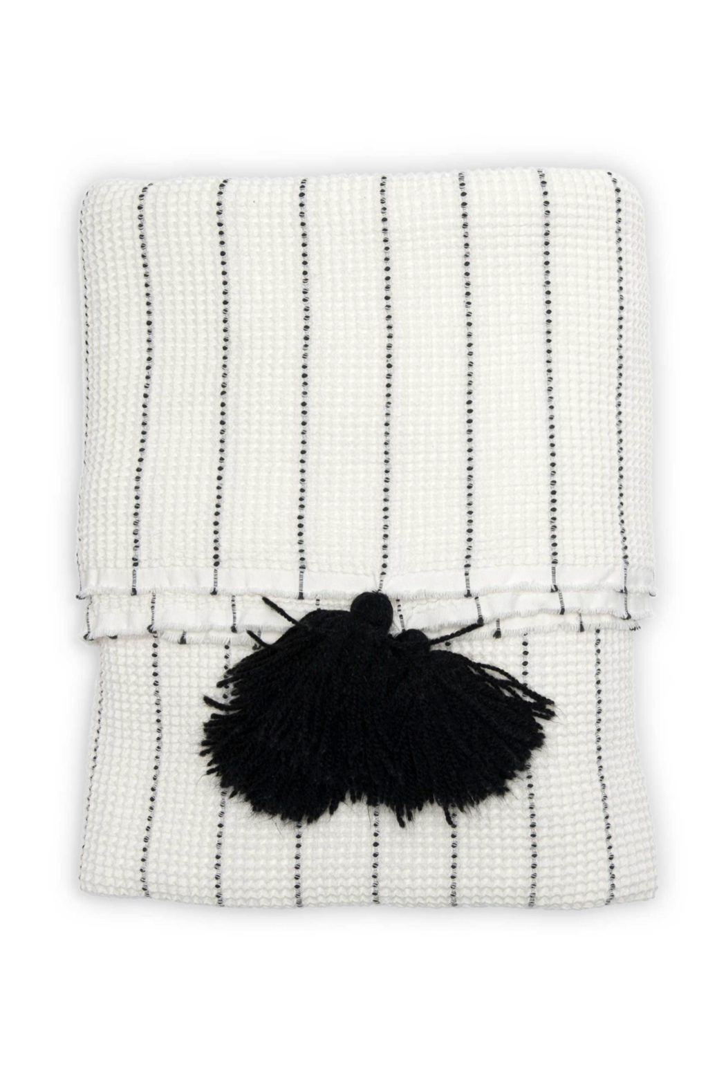 Pokoloko ARDA POM THROW BLANKET - Back Cropped Image